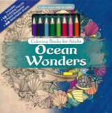 Ocean Wonders Coloring Book with Colored Pencils
