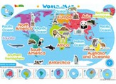 World Map, Magnetic Wall Sticker