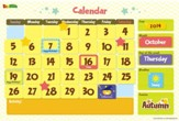 Calendar, Magnetic Wall Sticker