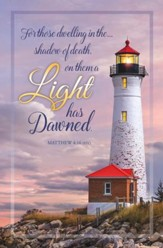 Lighthouse (Matthew 4:16, ESV) Bulletins, 100