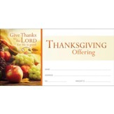 Give Thanks to the Lord (Psalm 106:1) Offering Envelopes, 100
