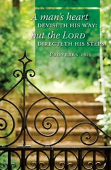 The Lord Directeth His Steps (Proverbs 16:9, KJV) Bulletins, 100