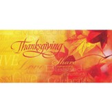 Words of Thanksgiving Offering Envelopes, 100