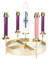 Brass Advent Wreath, 8 1/4 Inch