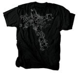 Music Cross Shirt, Black, XX Large