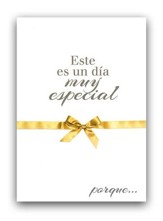 Un dia muy especial, tarjeta (Salmos 118:24); A very special day, card (Psalm 118:24)
