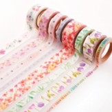 Floral Washi Tape, 8 Pieces