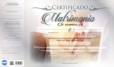 Certificado de matrimonio, 20 pack (Certificate of Marriage)