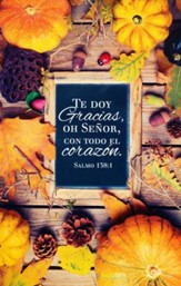 Te Doy Gracias, Salmo 138:1, 100 Boletines  (I Give You Thanks, Psalm 138:1, 100 Bulletins)