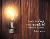Envia to Luz, Salmos 43:3 Lienzo (Small Canvas Print)