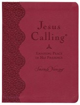 Jesus Calling, Large Print Imitation  Leather, Red  - Slightly Imperfect