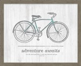 Adventure Awaits. For the Lord Your God is With You Wherever You Go Framed Canvas