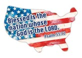 Blessed Is the Nation Whose God is the Lord, Car Magnet