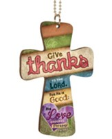 Give Thanks To the Lord, Cross Car Charm