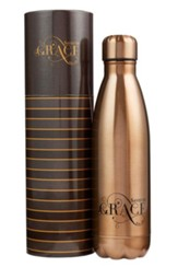 Saved by Grace, Stainless Steel Water Bottle, Gold