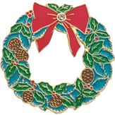 Christmas Wreath Lapel Pin