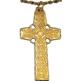 Gold Plated Celtic Cross, 2 1/4 inch