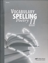 Abeka Vocabulary, Spelling, & Poetry  II Quizzes