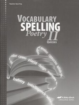 Abeka Vocabulary, Spelling, & Poetry  II Quizzes Key