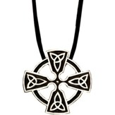Celtic Trinity Cross Pendant, Stainless Steel