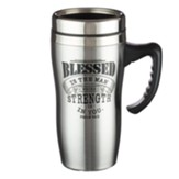 Blessed is the Man, Stainless Steel Travel Mug
