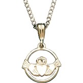 Sterling Silver Claddagh Pendant with Chain