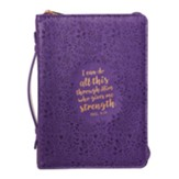 I Can Do All This Through Him, Bible Cover, Large, Purple