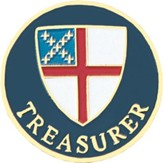 Treasurer Pin, Episcopal