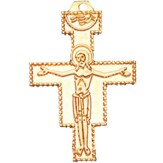 San Damiano Cross Pendant with Chain 1 5/8 inch