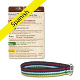 The Gospel Story Cloth Bracelet and Card, Spanish