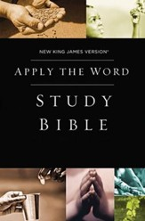 NKJV Apply the Word Study Bible, hardcover; custom  - Slightly Imperfect