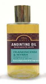 Anointing Oil, Frankincense and Myrrh (3.5 ounce) Altar Size