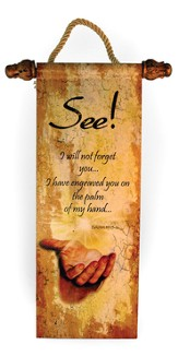 I Will Not Forget You Wall Scroll