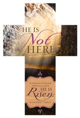 He Is Not Here (Mark 16:6, KJV) Cross-Shaped Bookmarks, 25