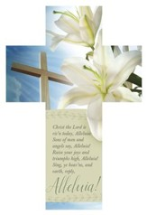 Christ the Lord is Risen Today Cross-Shaped Bookmarks, 25