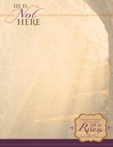 He Is Not Here (Mark 16:6, KJV) Letterhead, 100