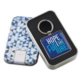 Hope and Future Keyring in Tin