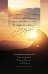 A Friend in Jesus (Philippians 4:6, NIV) Bulletins, 100