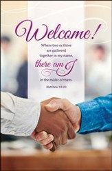 Welcome (Matthew 18:20, KJV) Bulletins, 100