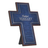 Faithful Servant Cross, Lux Leather