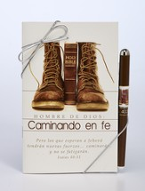 Man Of God, Walking By Faith Devotional and Pen Set, Spanish