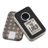 Commit To the Lord Whatever You Do Keyring in Tin