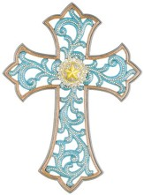 5 Point Star Medallion, Resin Wall Cross