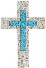 Turquoise Stone, Resin Wall Cross