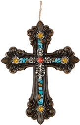 Turquoise Clover, Resin Wall Cross