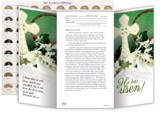 He Has Risen! (Luke 24:6, NIV) Easter Coin Offering Folders, Pack of 50
