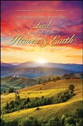 Heaven and Earth (Psalm 121:2, NIV) Bulletins, 100