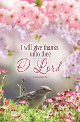 I Will Give Thanks (2 Samuel 22:50, KJV) Bulletins, 100