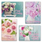 Fragrant Bouquets (NIV) Box of 12 Birthday Cards