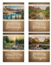 Majestic Wishes (NIV/NRSV) Box of 12 Birthday Cards